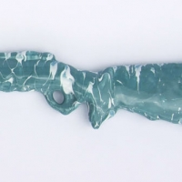 Jones Claude_Blue Bubble gun_2014_glazed stoneware_67x8x3cm